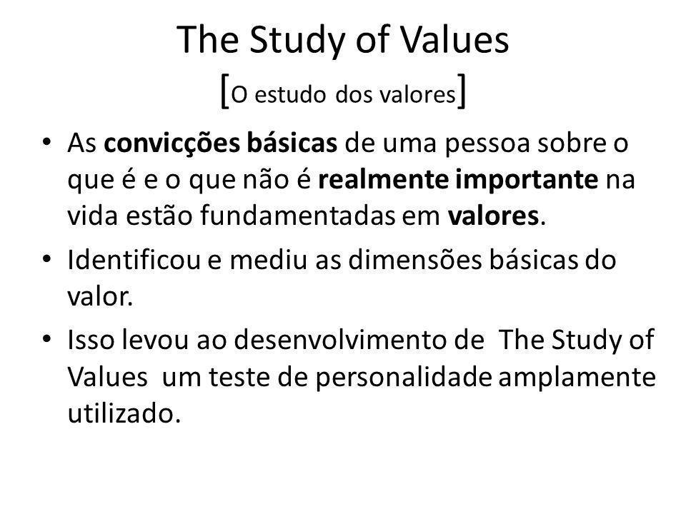The Study of Values [O estudo dos valores]